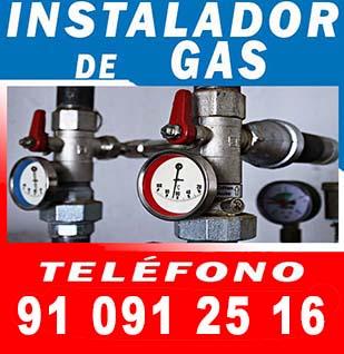 Instalador de gas autorizado Canillejas