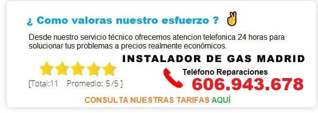 INSTALADOR DE GAS MADRID PRECIOS